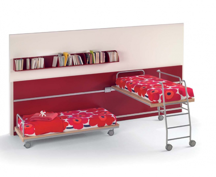 Set for the nursery, a bed, a shelf, Galli