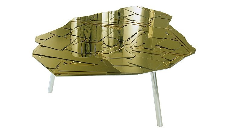 Coffee table/dining Brasilia with mirrored tabletop, Edra