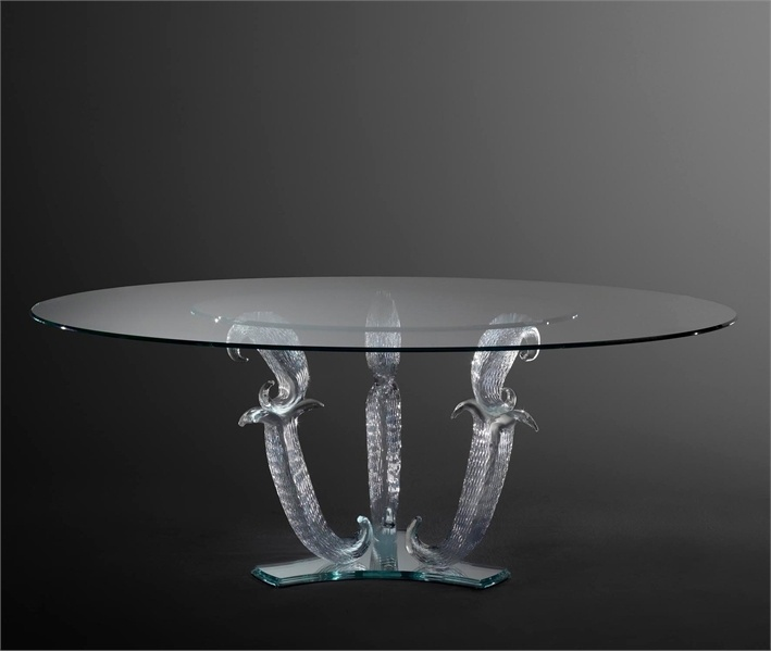 Dining table with round glass top Dinning Table Casanova - Reflex Angelo