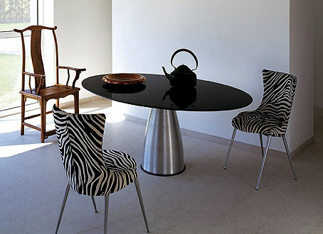 Dining table on a metal frame, Alum, Cattelan Italia