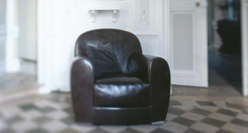 Chair leather Amburgo, Baxter