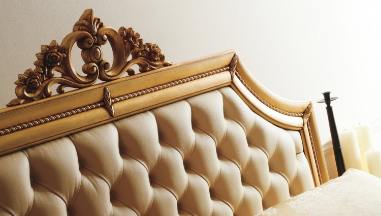 Bed with upholstered headboard Letto Ines - CorteZari - Corte Zari
