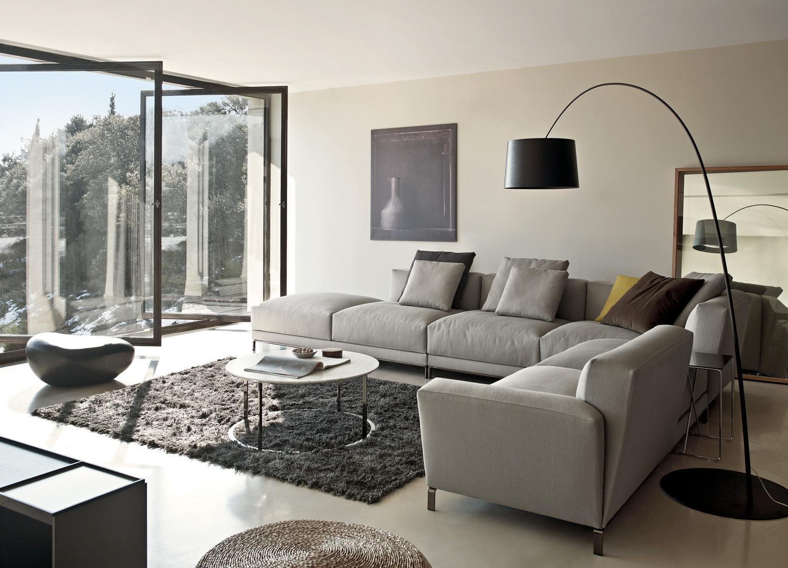 Modular Living Room Furniture A Modular Sofa On A Frame Of Steel Luis Bb Italia Luxury