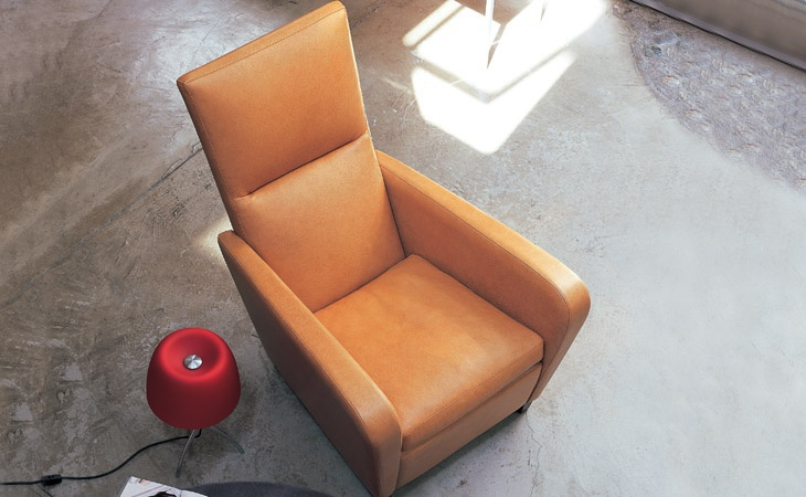 Chair in leather upholstery, OFELIA - Valdichienti