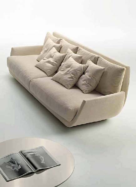 Two seater sofa with a hidden frame, Desiree