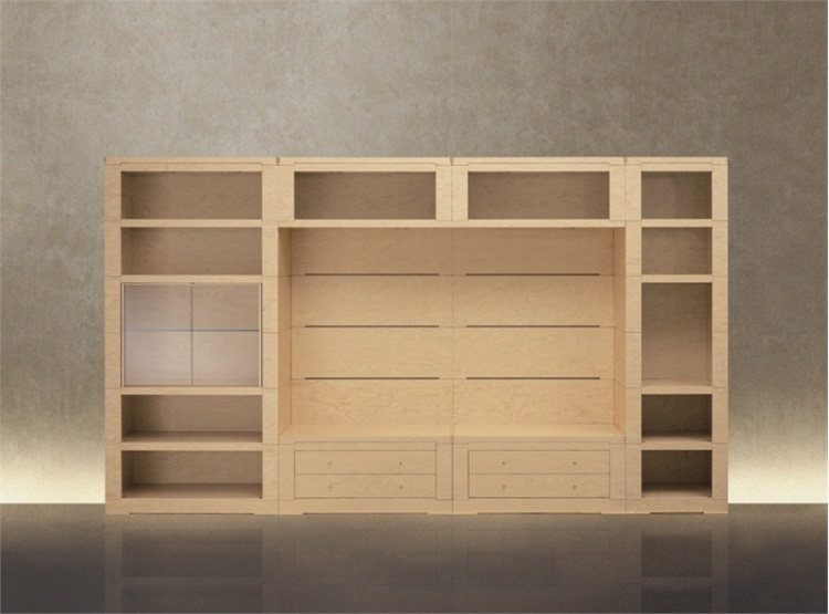 The bookcase from solid maple Oli Giorgetti