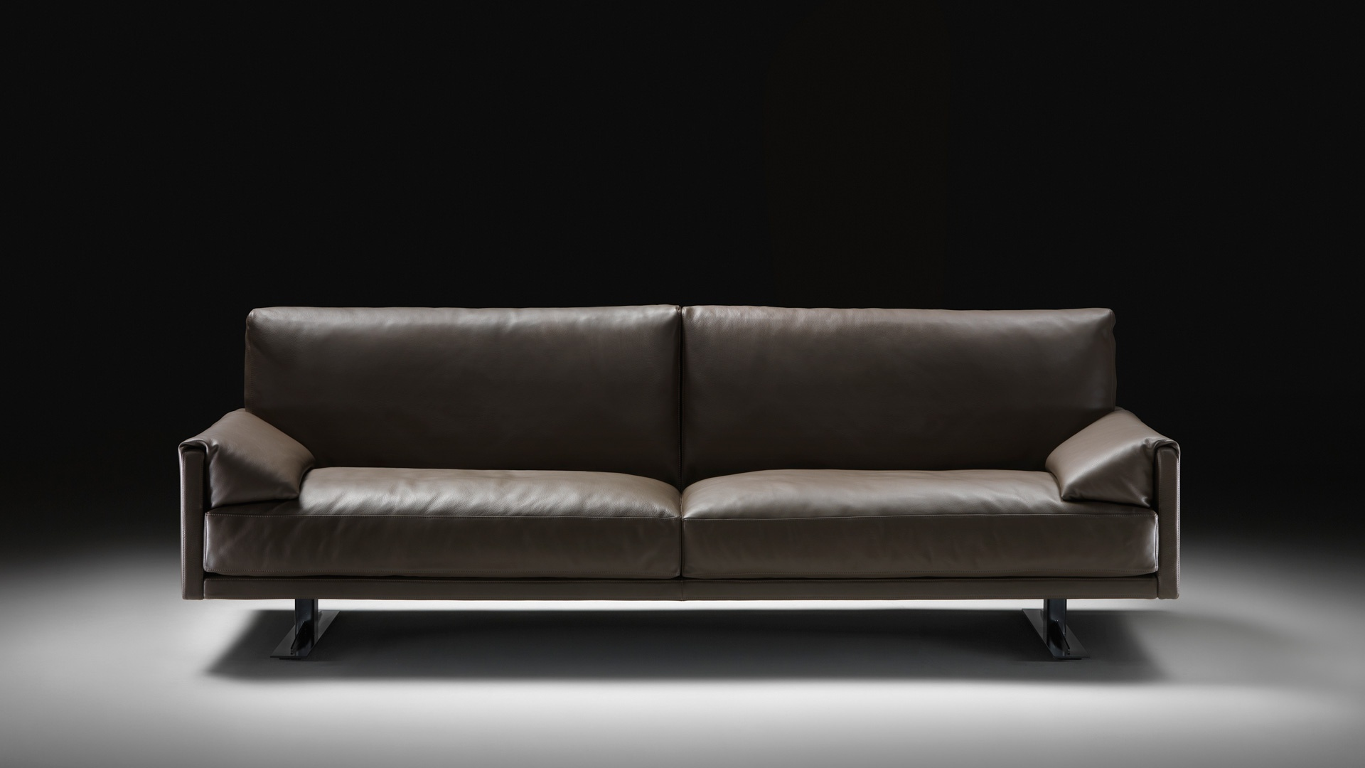 Sofa Leather Upholstery Metal Frame Busnelli