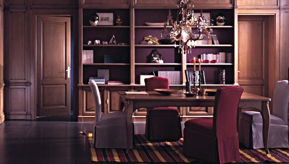 For dining room set made of solid wood with a shrouded for Mr arredamenti