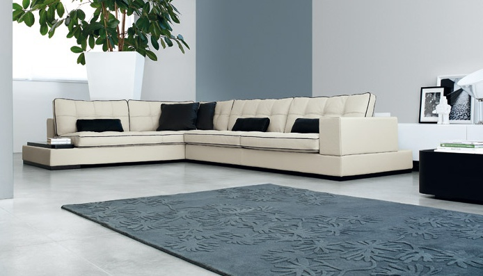 Corner Sofa On Low Legs, Contempo