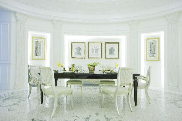 Solid Wood Gilded Versace Home, Versace Dining Room Set