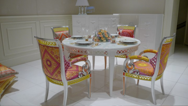 Italian Producer Of Versace Home, Versace Dining Room Set