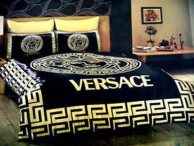 Bed with high headboard, Versace Home