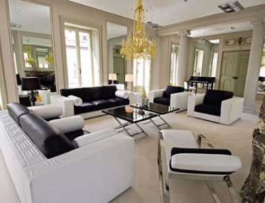 Sofa Set Made Of Solid Wood, Versace Home · Living Room ...