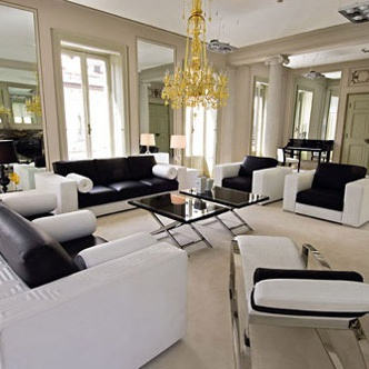 Charming Sofa Set Made Of Solid Wood, Versace Home