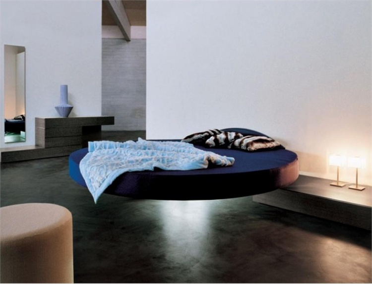 Round bed Fluttua C by Lago