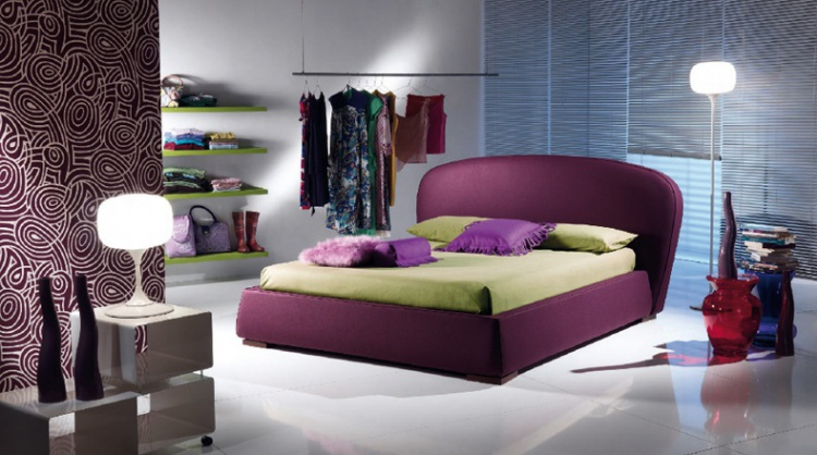 Bed with upholstered headboard Fashion, Bodema