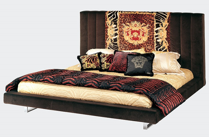 Double bed with high headboard, Brummel - Versace Home