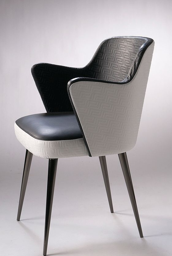 Chair with armrests, Moon - Versace Home