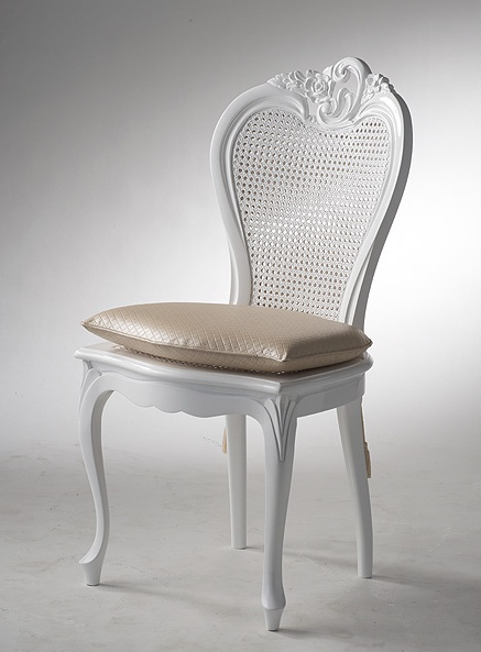 Attirant Chair Without Armrests, Privilege Cane   Versace Home