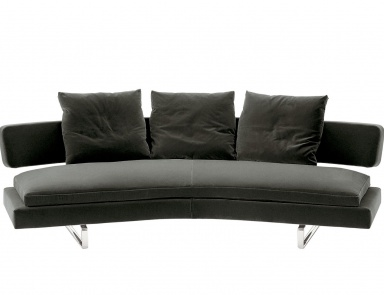 The Sofa On The Frame Of Steel Tubes Covered With Leather Or Cloth Arne, Bu0026B