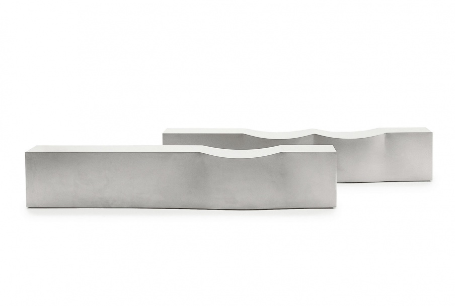 Bench stainless steel Double Dip by B&B Italia