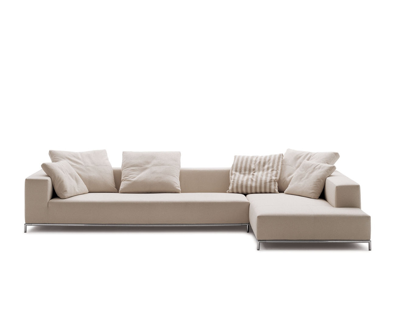 A Modular Sofa On A Frame Of Steel Upholstered In Leather Or