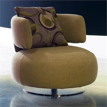 Chair On Round Base Curl Roche Bobois Luxury Furniture Mr
