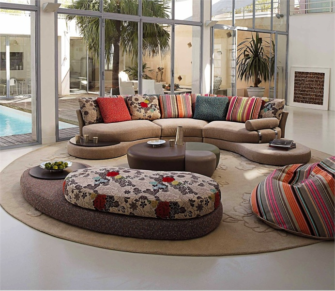 semi circular sofa formentera roche bobois luxury. Black Bedroom Furniture Sets. Home Design Ideas