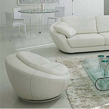Swivel chair with a hidden frame, Grand Voile - Roche Bobois