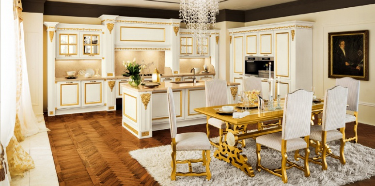 Kitchen furniture kitchen) Foglia Oro