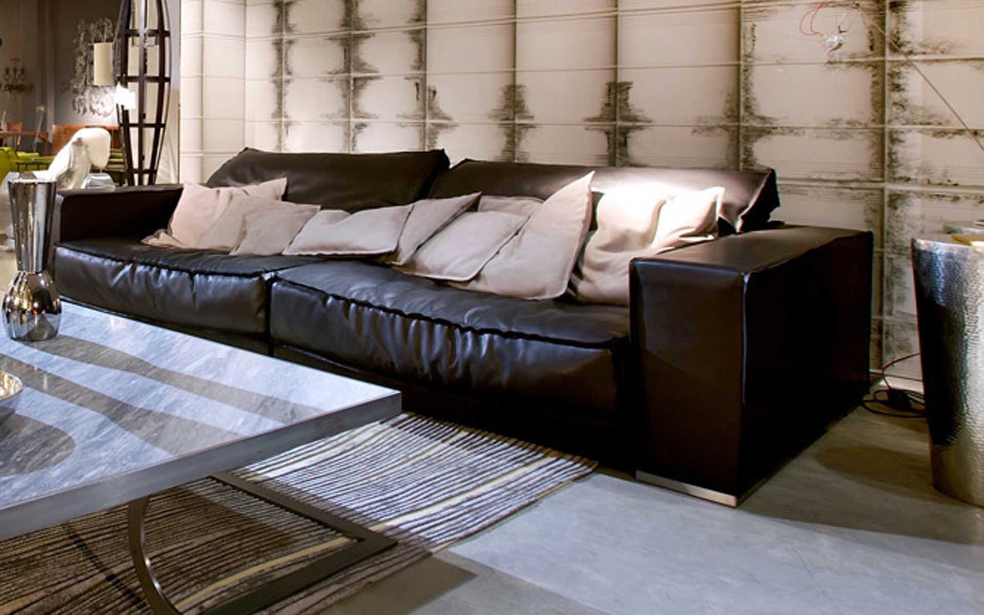 Leather Sectional Sofa Budapest Soft, Baxter