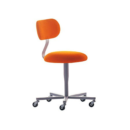 Armchair on swivel base with seat and backrest made of polyurethane foam and steel frame Atlas, Alias