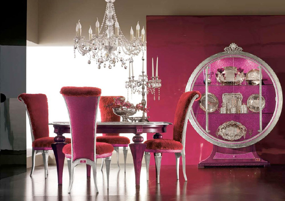 Dining room with body in solid wood tiffany altamoda for Makeup by tiffany d dining room