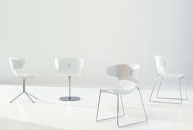 Chair on chromed steel frame Vanilla, Bonaldo