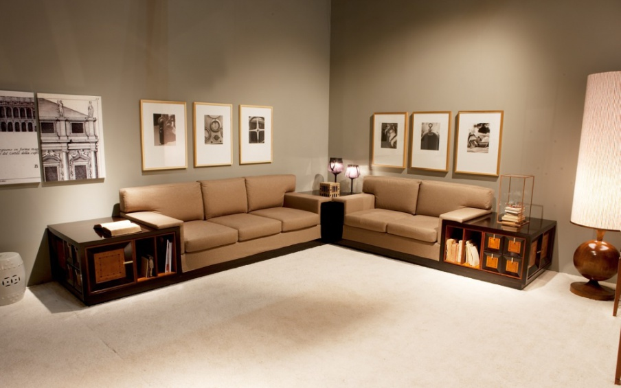Divani Ad Angolo Divani.Five Seater Corner Sofa With Frame In Solid Wood And Upholstery