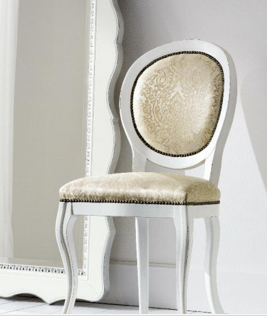Chair with round backrest, Flai