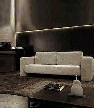 A Modular Sofa On A Frame Of Solid Wood Covered With A