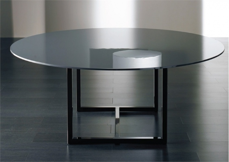 Dining table with glass top Irons, Meridiani
