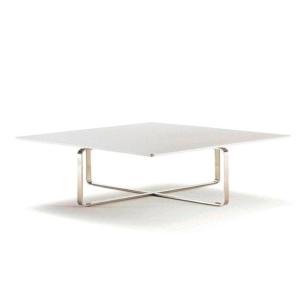 Coffee Table With Steel Frame And Wooden Table Top Master Arflex