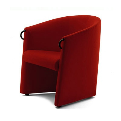 Armchair With Frame Made Of Metal Filled With Polyurethane Foam