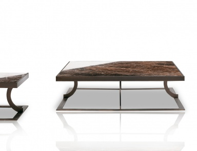 Low table bar in modern style caprice smania luxury for Caprice marble dining table