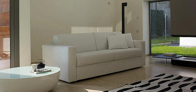Sofa Bed Upholstered In Leather Or Fabric Virginia, Bonaldo