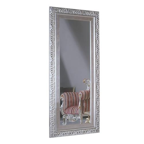Floor or wall mirror with frame plated with silver for Silver framed floor mirror
