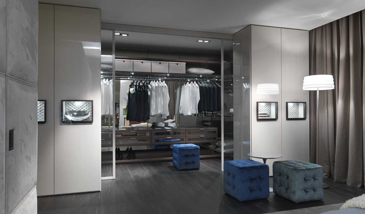 Walk In Closet With A Frame Made Of Chipboard Veneered