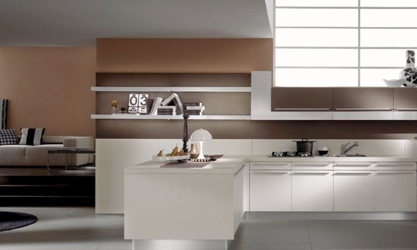 Kitchen With Stainless Steel Countertop And Built In Lighting Mood