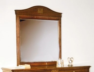 Mirror with frame made of natural wood landaluce for Gil arredamenti