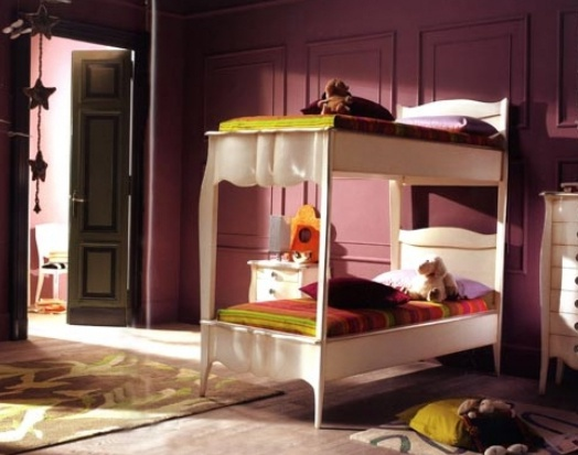 The bed is a bunk bed on a frame of solid wood 731/G, BTC