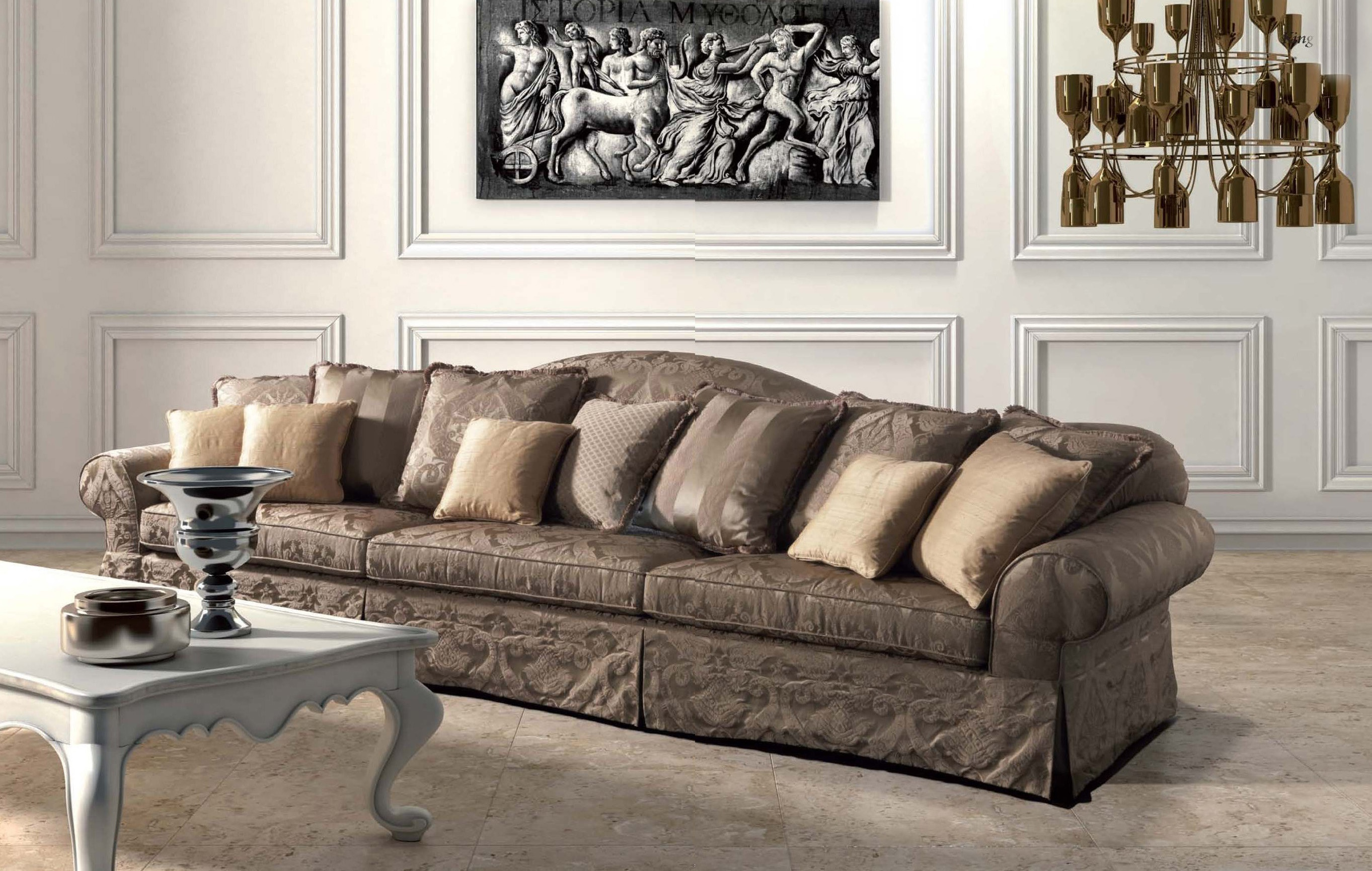 Three Seater Sofa King Asnaghi Made In Italy Luxury