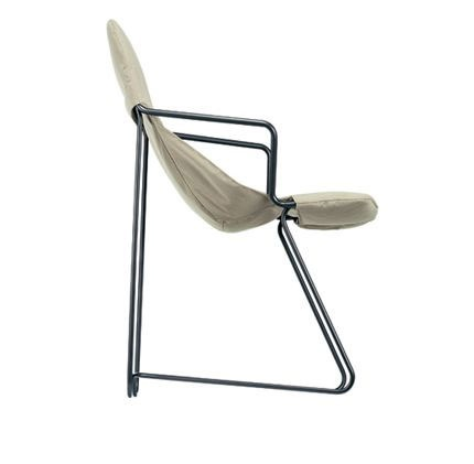 Chair with frame of steel tubes and coated textile fabrics from ...