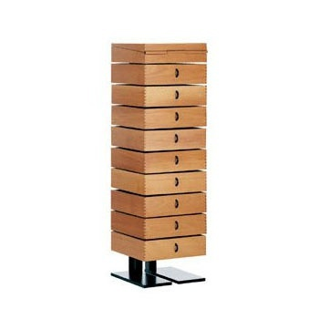 A chest of drawers or a Desk with a frame made of hardened steel and drawers made of wood Robot, Alias